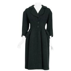 1952 Charles James Couture Chesterfield Documented Museum-Held Princess Coat