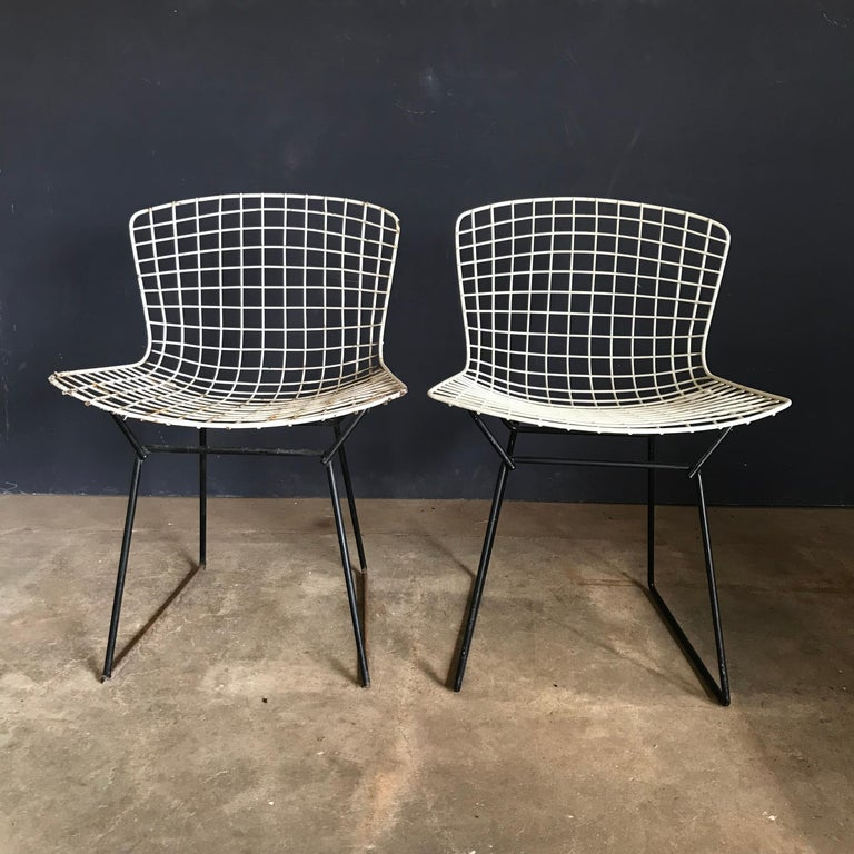 1952, Harrie Bertoia for Knoll International a Set of Wire Dining Chairs For Sale 10