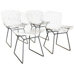 1952, Harrie Bertoia for Knoll International a Set of Wire Dining Chairs