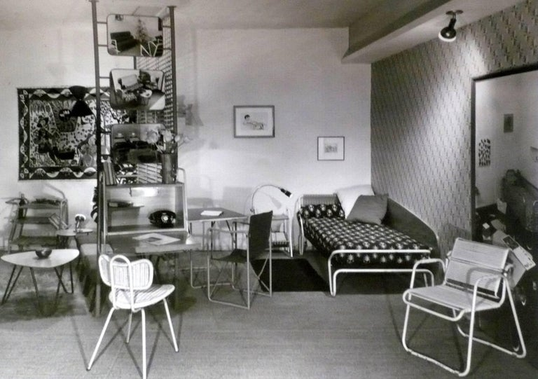 French 1952 'Miami' Daybed by Jacques Hitier for the Famous 'Antony' Building, Paris For Sale
