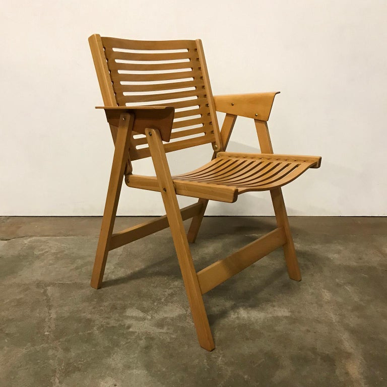 Magnificent 1952 Nico Kralj Set Of Wooden Folding Dining Chairs Ibusinesslaw Wood Chair Design Ideas Ibusinesslaworg