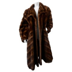 Christian Dior 1973 Two-Tone Mink Fur Coat