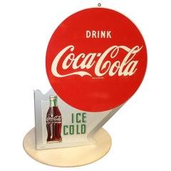 1953 Coca-Cola Vintage Metal Flange Sign