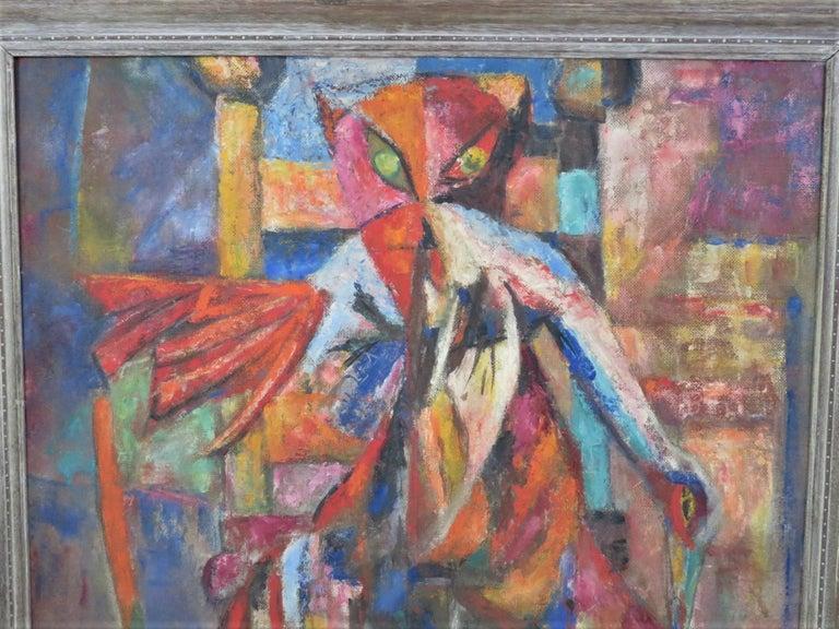 Mid-Century Modern 1953 Francis Jennings Mid Century Modern Painting