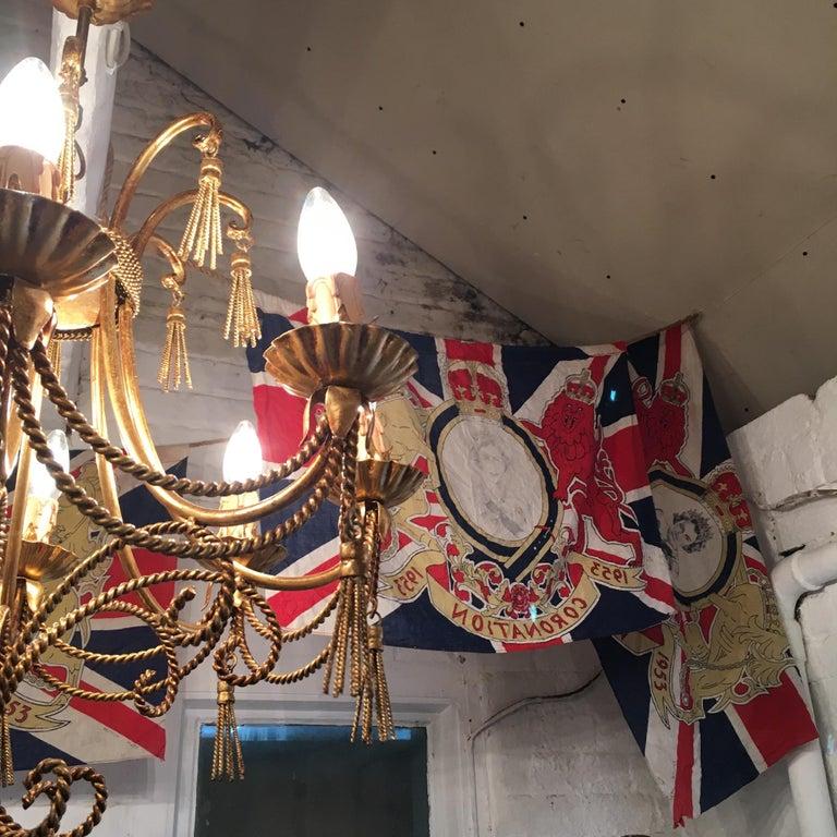 1953 Royal Coronation Flag Bunting 13.5 Metres For Sale 3