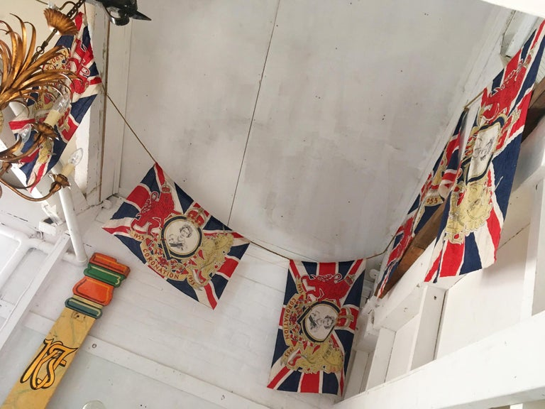 1953 Royal Coronation Flag Bunting 13.5 Metres For Sale 4