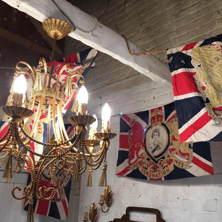 1953 Royal Coronation Flag Bunting 13.5 Metres For Sale 7