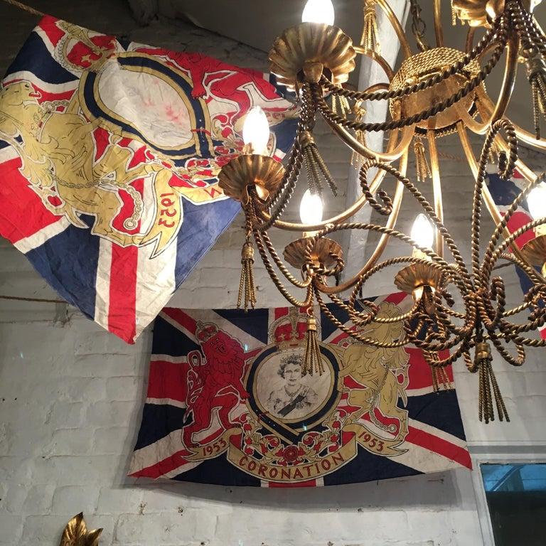 1953 Royal Coronation Flag Bunting 13.5 Metres For Sale 8