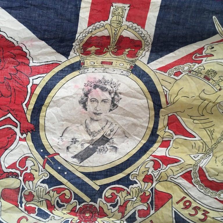 1953 Royal Coronation Flag Bunting 13.5 Metres For Sale 9