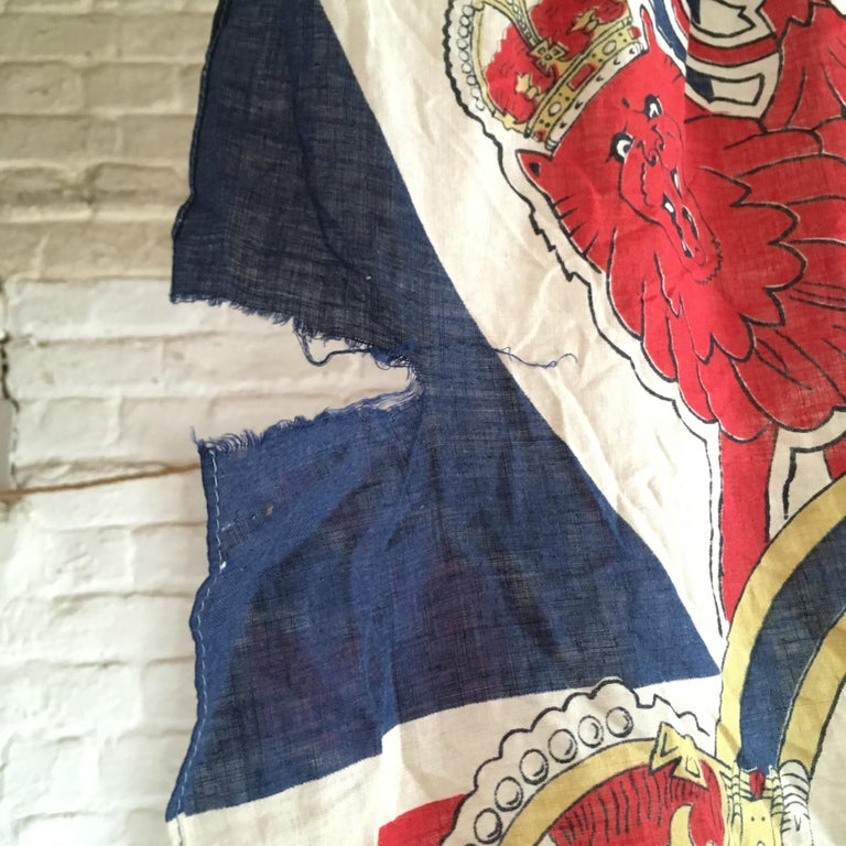 1953 Royal Coronation Flag Bunting 13.5 Metres For Sale 11