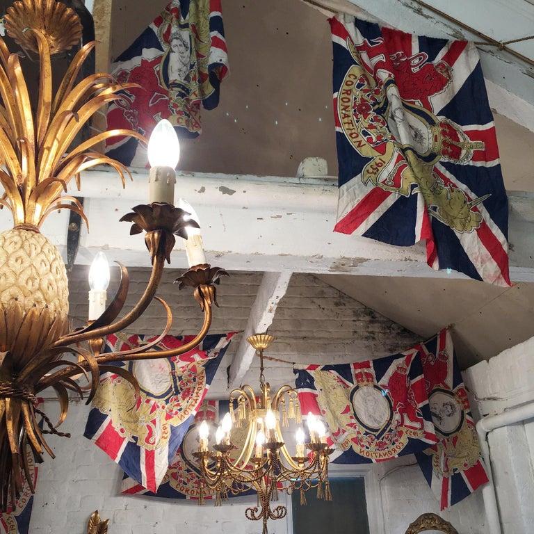 1953 Royal Coronation Flag Bunting 13.5 Metres For Sale 2