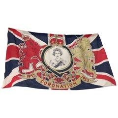 1953 Royal Coronation Flag Bunting 13.5 Metres