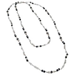 1954 Chanel by Robert Goossens Rare Crystal Metal Long Sautoir Couture Necklace