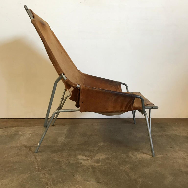 Danish 1954, Erik Ole Jorgesen, Easy Lounge Chair J 361 in Suede by Bovirke For Sale