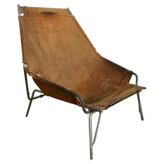 1954, Erik Ole Jorgesen, Easy Lounge Chair J 361 in Suede by Bovirke