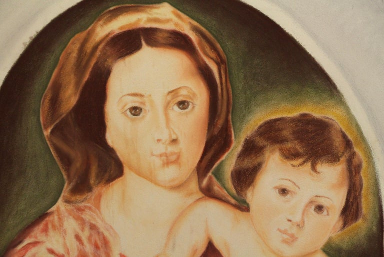 American 1954 Madonna and Child Painted on Sheet Rock from the Billy Rose Estate Chapel For Sale
