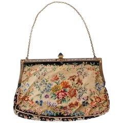 1954 Marilyn Monroe Owned Needlepoint Purse Worn for Marriage to Joe DiMaggio