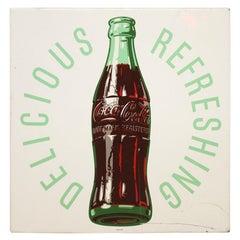 1954 Original Coca-Cola Tin Advertising Sign