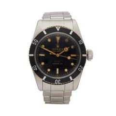 1954 Rolex Submariner Stainless Steel 6538 Wristwatch