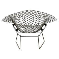 1955, Harry Bertoia for Knoll International, Wide, Large, Chrome, Diamond Chair