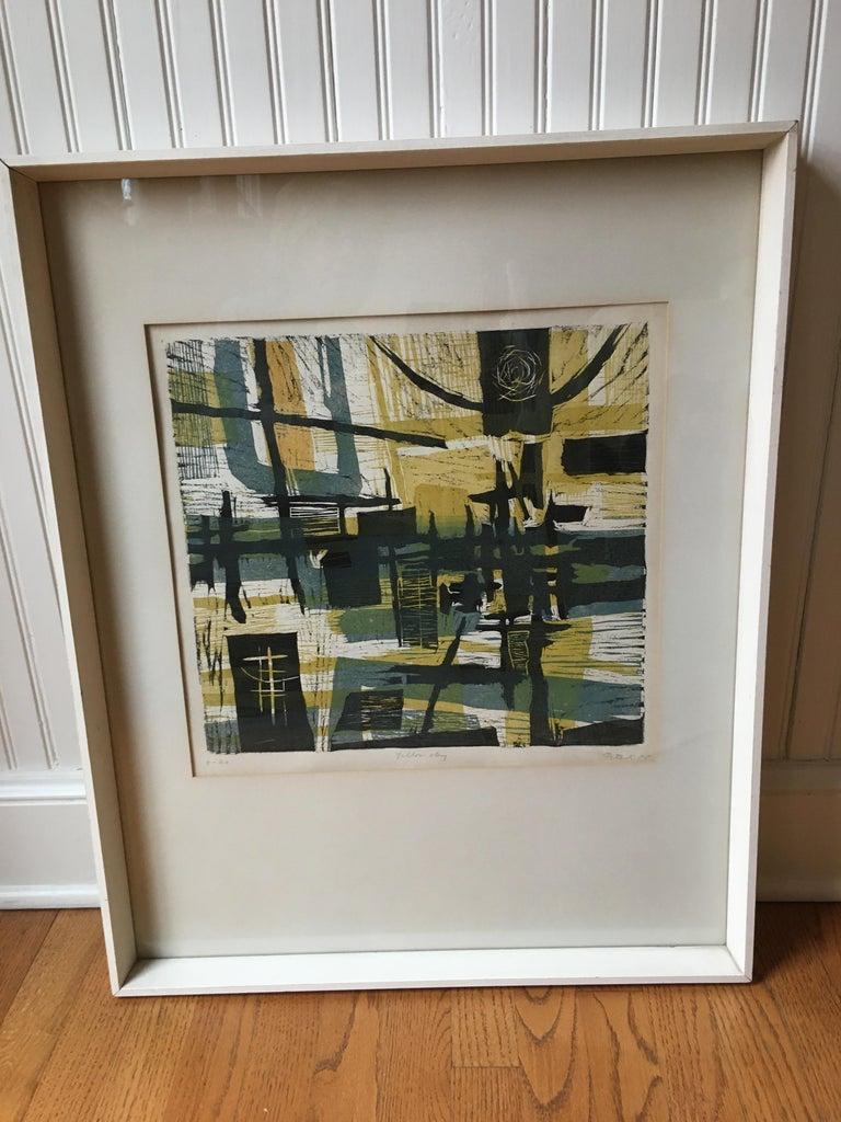A 1955 lithograph by Gabor Peterdi titled