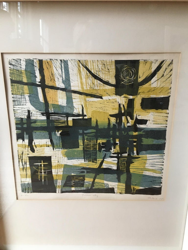 American 1955 Lithograph by Gabor Peterdi For Sale