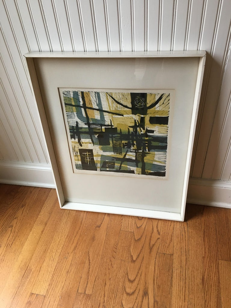 1955 Lithograph by Gabor Peterdi In Good Condition For Sale In Chicago, IL