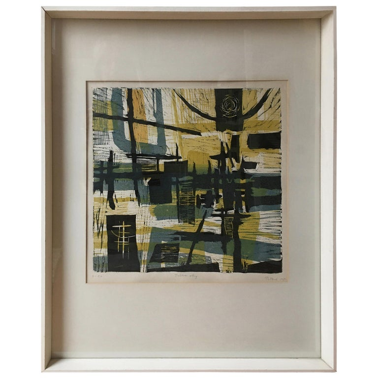 1955 Lithograph by Gabor Peterdi For Sale