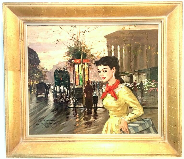 1955 Original Impressionist Oil On Canvas Painting,