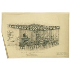 """1955 """"Private Lodge & Lounge"""" Architectural Rendering Prepared by Rucker Fuller"""