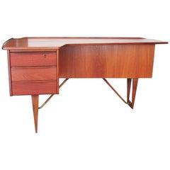 "1955 Teak ""Boomerang"" Desk by Peter Løvig Nielsen"
