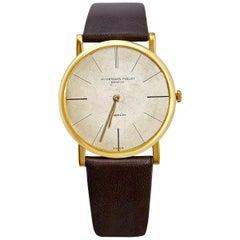 """1956 AP Audemars Piguet """"Calibre K2071"""" 18 Karat Gold Men's Leather Strap Watch"""