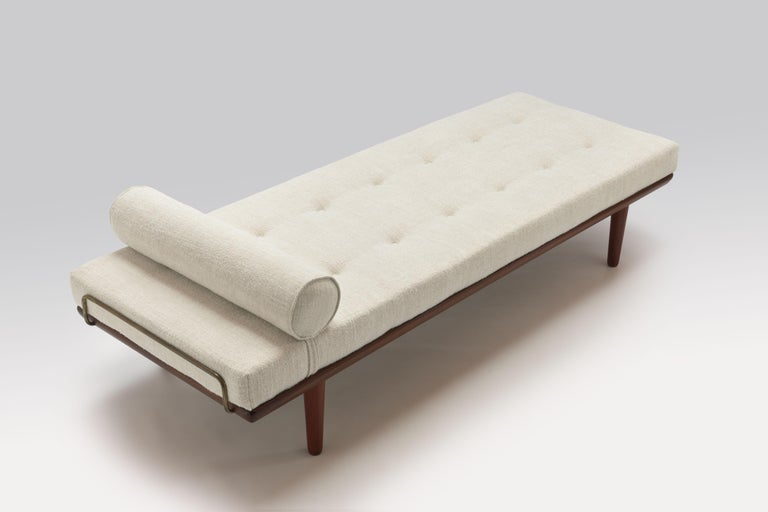 Scandinavian Modern 1956 Daybed Model GE19 by Hans J. Wegner for GETAMA, New Pierre Frey Upholstery For Sale