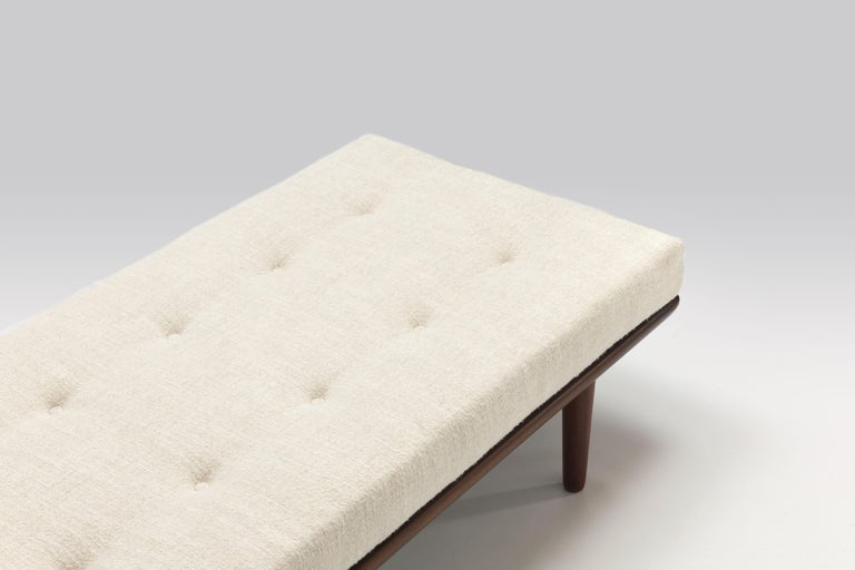 Danish 1956 Daybed Model GE19 by Hans J. Wegner for GETAMA, New Pierre Frey Upholstery For Sale