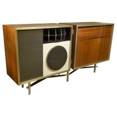 1956 Eames 3 Trusonic Speaker System and Custom Cabinet Credenza