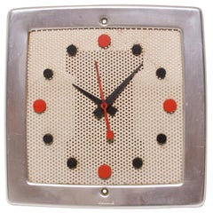 1957 Classic Wall Clock Nu Tone Chime L35 Perforated Metal Howard Miller Style