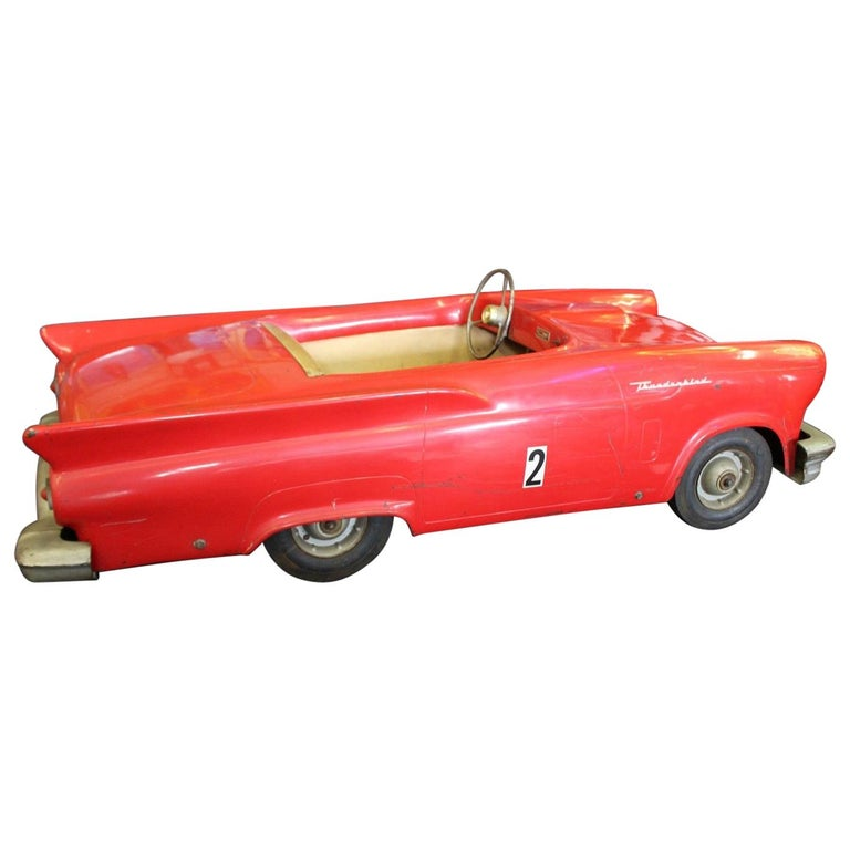 Model Cars For Sale >> 1957 Vintage Ford Thunderbird Jr Powercar Electric Kiddie Car For