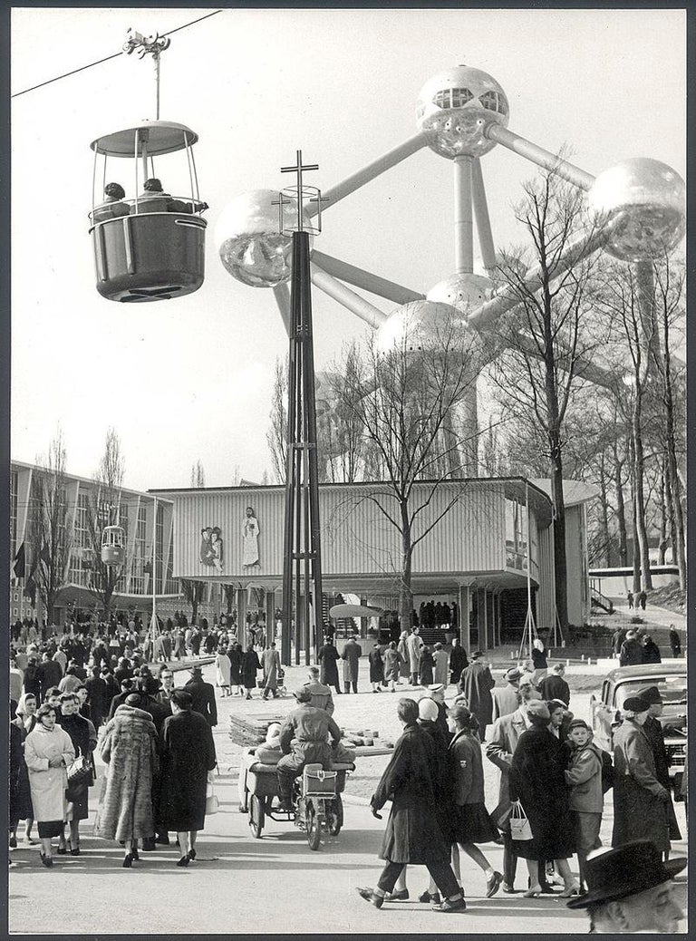 Mid-20th Century 1958, Belgian Aluminum Triangle Panel of the Brussels Atomium For Sale