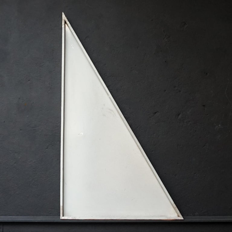 1958, Belgian Aluminum Triangle Panel of the Brussels Atomium For Sale 4