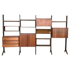 Fritz of California Euro Art Walnut Freestanding Modular Storage System, 1958