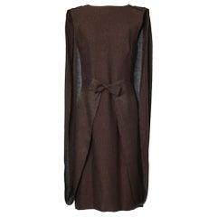 1958 Pierre Cardin Brown Cigaline Dress