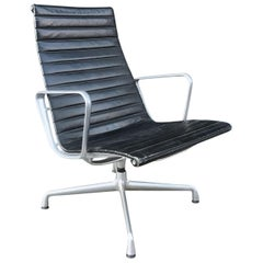1958, Ray & Charles Eames for Herman Miller Lounge Chair EA 116 in Black Leather