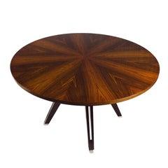 1958, Round Table by Ico Parisi for M.I.M. Roma, Walnut, Mahogany Palm, Italy