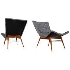 Mid-Century Fiberglass  Lounge Chairs by Miroslav Navratil for Cesky Nabytek