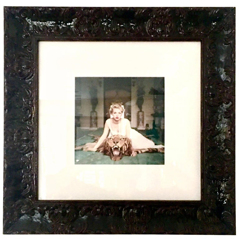 1959 slim aarons giclee photograph beauty and the beast framed for