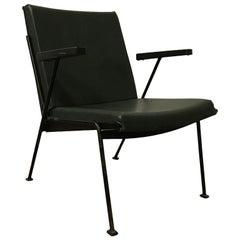 1959, Wim Rietveld for Ahrend de Cirkel, Oase Chair Original Green Leatherette