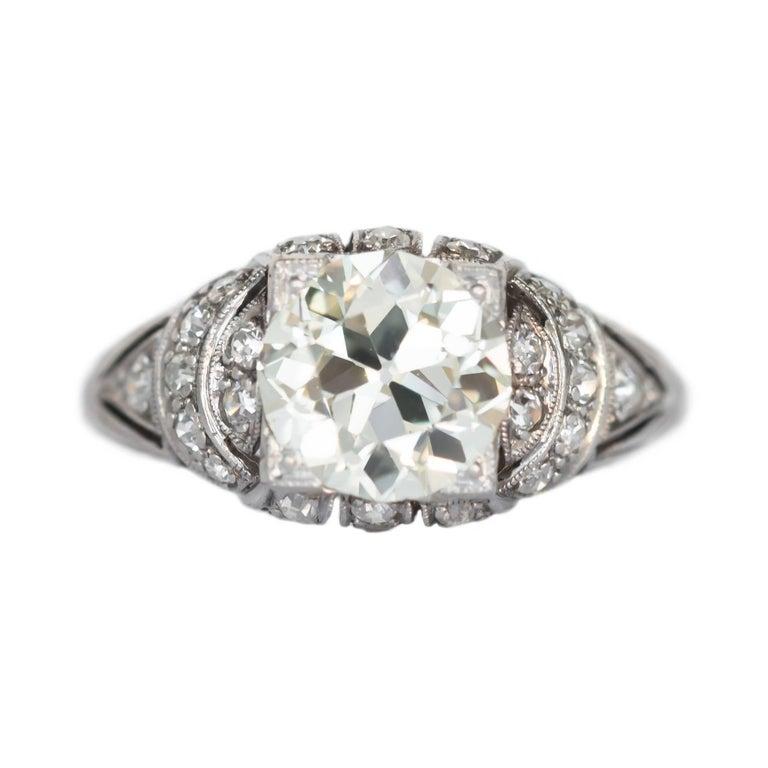 1.96 Carat Diamond Platinum Engagement Ring