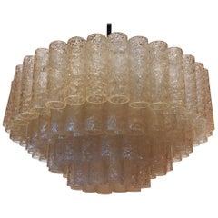 1960-1970 'Venini Murano Doria Lichtenwerken Chandelier 6 Bulbs