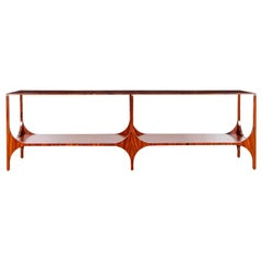 """1960"" Contemporary Console Table in Pau Ferro Wood by Bruno Rangel"