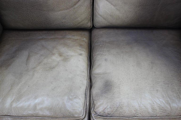 Mid-Century Modern 1960 Danish 2-Seat Leather Sofa For Sale